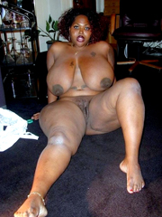 Nude tall black woman