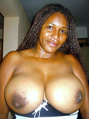 This ebony bitch knows that her tits..